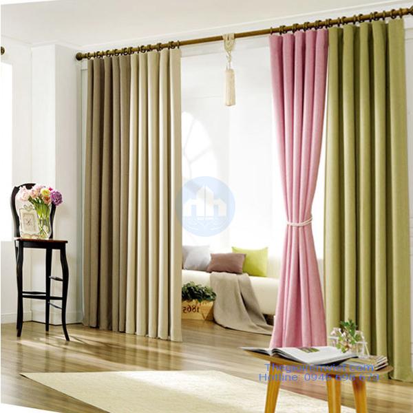 rèm trang trí phòng khách phong cách hiện đại